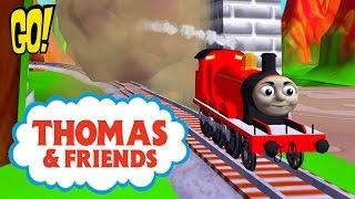 Томас и его Друзья Счастливого Пути играем за красный паравозик Джэймс новая Мини игра Мультфильм