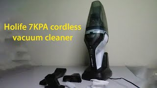 Holife 7KPA cordless vacuum cleaner unboxing