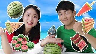 你絕對沒有見過的超神奇又可愛的西瓜小零食喔!| 伶可兄弟 thumbnail