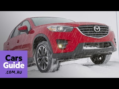 2016 Mazda CX-3 and CX-5 AWD review | snow test video