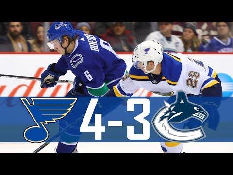 Canucks vs Blues | Highlights | Nov. 18, 2017 [HD]