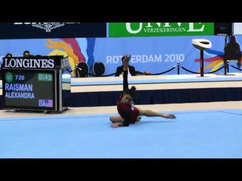 Alexandra Raisman (USA) FX TQ - 2010 Worlds