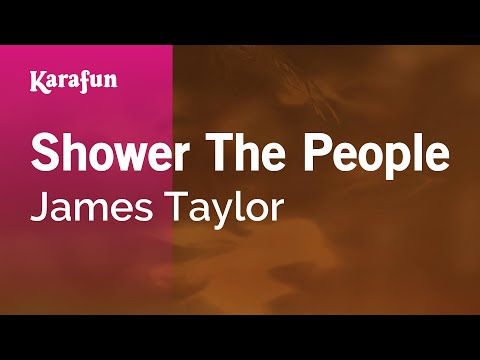 Karaoke Shower The People - James Taylor *
