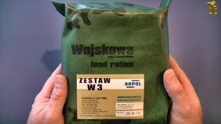 MRE Review - Polish Army Combat Ration - W3 - Pork Neck
