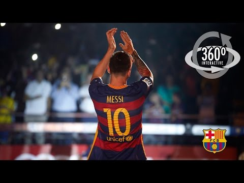 AWESOME - FC Barcelona's 2015/16 unveiling on 360º CAM