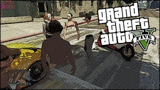 GTA 5 Online Funny Moments - Tip The Dump Truck, Invisible Body Parts Glitch!