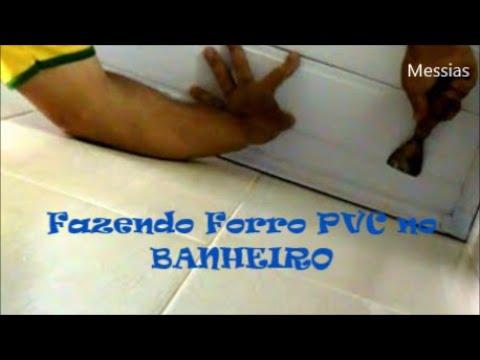 forro PVC no banheiro passo a passo