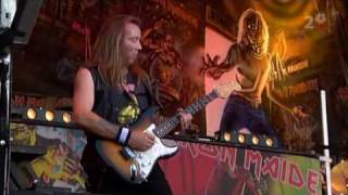 Iron maiden live at Ullevi, Sweden, the song is Prowler. 9 July 200...