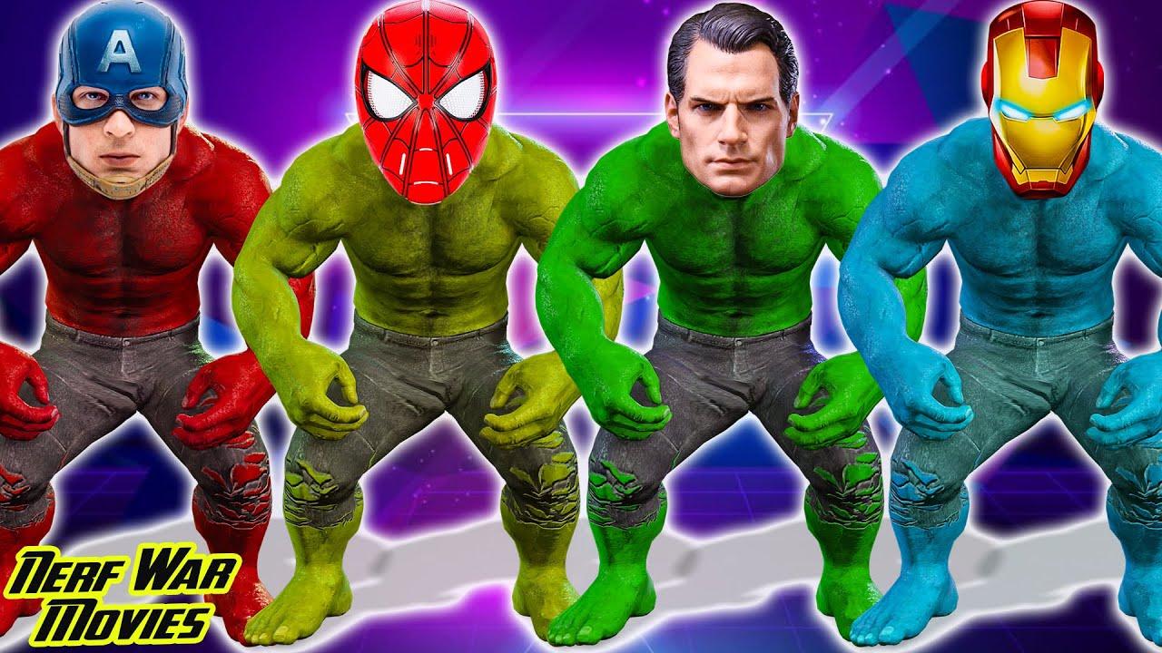 Nerf War Movies: Patrol X Warriors Nerf Guns Fight Criminal Group Wrong Heads & Save Team Spiderman