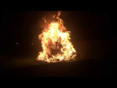 Carshalton Fireworks slow motion of the guy falling 2014