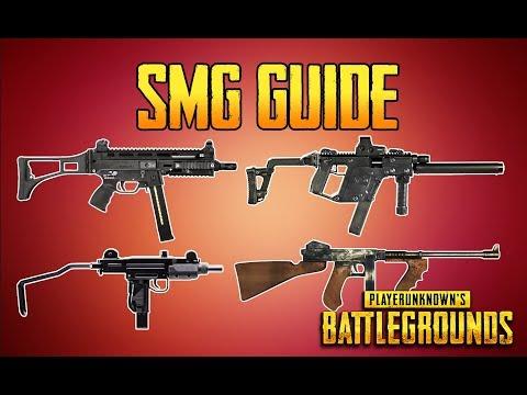 BATTLEGROUNDS SMG GUIDE! PUBG GUN GUIDE! TrainingGrounds Episode 3!