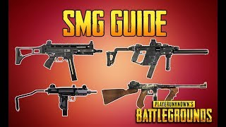 BATTLEGROUNDS SMG GUIDE! PUBG GUN GUIDE! TrainingGrounds Episode 3!