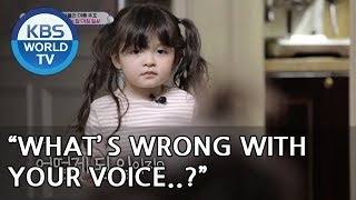 "Naeun is confused..""Gunhoo, what's wrong with your voice?"" [The Return of Superman/2019.02.17]"