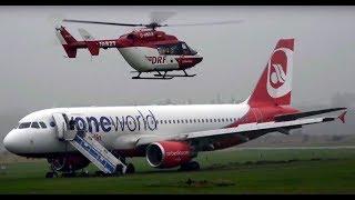 AIRBUS Unfall auf dem Flughafen Sylt