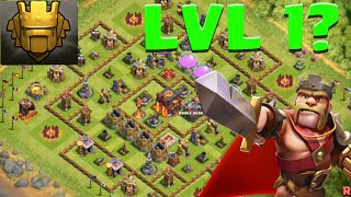Clash of Clans LVL 1 BASE in Champion 2? Level 1 walls and Defenses