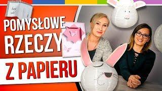 SPRYTNE BABKI - RZECZY Z PAPIERU / kolczyki z sentencjami / papierowy spinner / kartka 3D /...