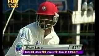 Brian Lara 110 vs Australia 1st test 2003 - RARE FOOTAGE!!!!!!!!