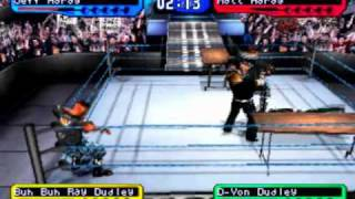 WWF SmackDown! 2: Know Your Role - Table Tornado Tag Match - Hardy Boyz vs Dudley Boyz