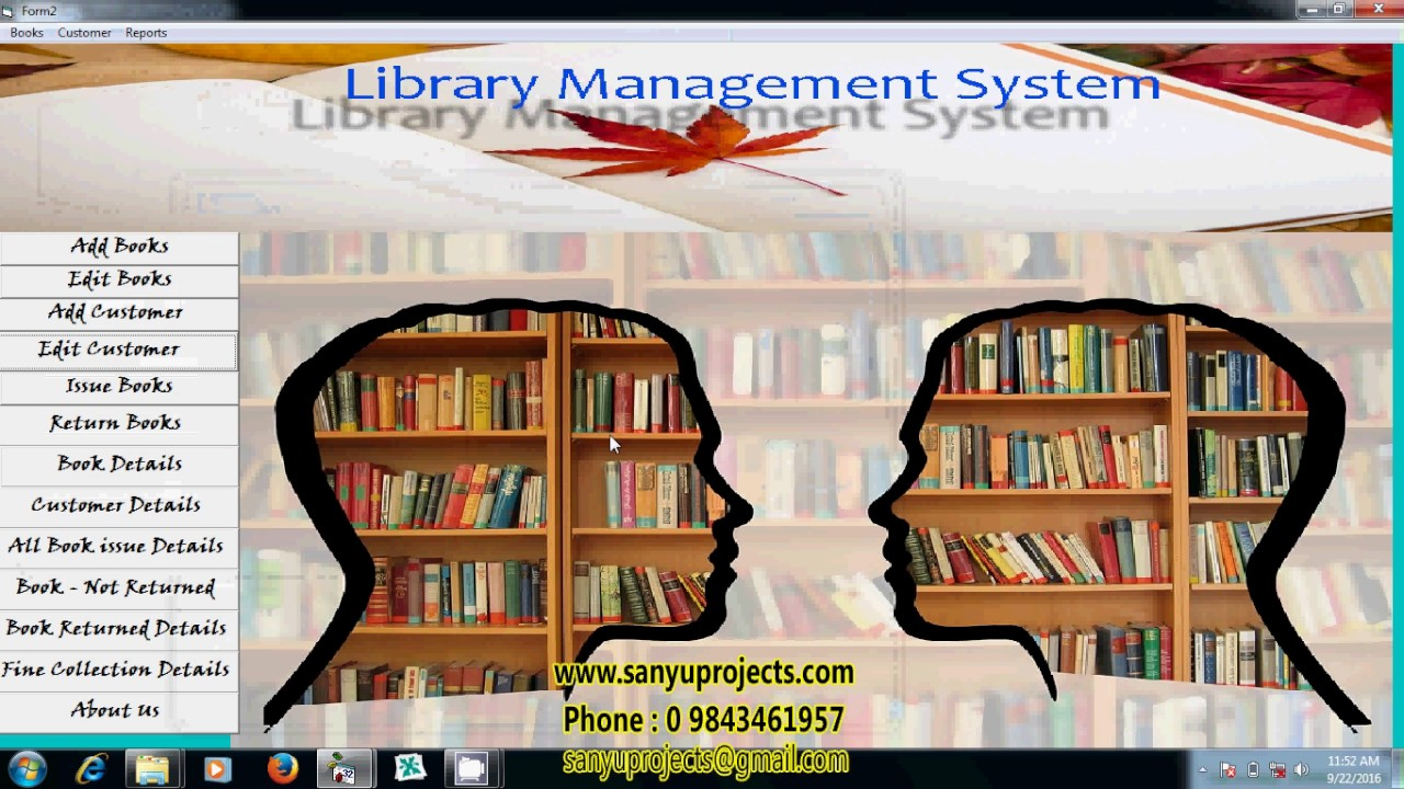 Library Management System Vb6 0 ms-access project Video