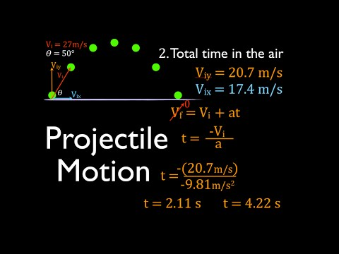 Two Dimensional Motion, Worked Example
