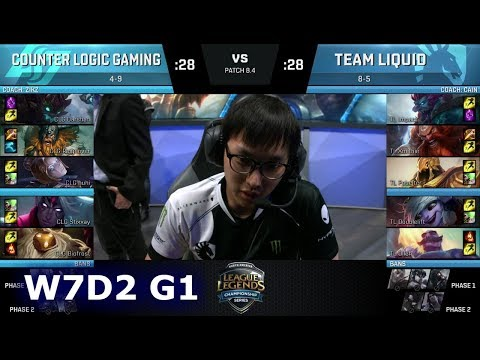 CLG vs Team Liquid | Week 7 Day 2 of S8 NA LCS Spring 2018 | CLG vs TL W7D2 G1
