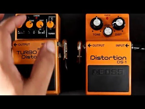 Boss Distortion DS-1 VS Boss TURBO Distortion DS-2 Pedal Comparison