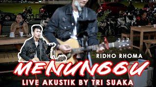 Download Mp3 Menunggu - Ridho Rhoma  Lirik  Live Akustik By Tri Suaka