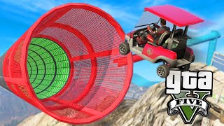 GTA Online: Carrinhos de GOLFE do AZAR!! -Corrida ACROBÁTICA #6