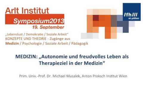 Konzepte und Theorie - Michael Musalek, Anton Proksch Institut Wien