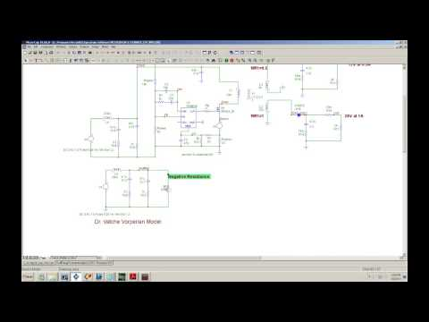 Input filter effect on a power supply using the Vatche Vorperian Model .wmv
