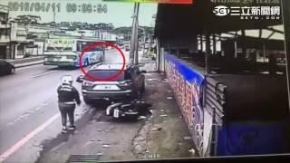 新北八里車禍 機車駕駛遭拖行百公尺慘死公車輪下 三立新聞網SETN.com