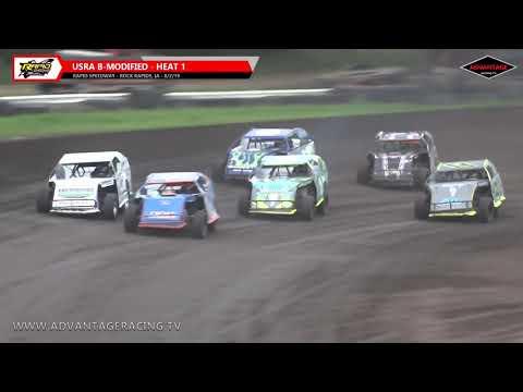 Sportsman/B-Modified Heats - Rapid Speedway - 8/2/19