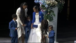 Nipsey Hussle's kids honor slain rapper at LA memorial service I ABC7