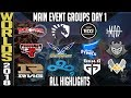 LoL Worlds 2018 Day 1 Highlights Main event Group Stage - ALL GAMES, Standings and MVP