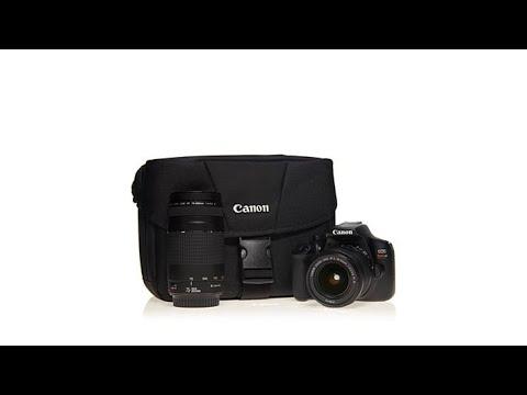 canon eos rebel t6 18mp dslr camera w/ef-s 18-55mm/ef 75-300mm lenses