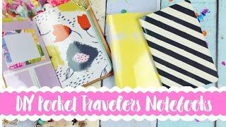 DIY Pocket Traveler Notebooks