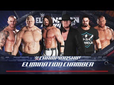 WWE 2K18- WWE Championship match -6 Man Elimination Chamber Match 2017