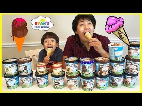 Thumbnail: ICE CREAM CHALLENGE!! BEN & JERRY'S 20 FLAVORS Guess the flavor Taste test Funny video!