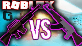 WHAT IS THE BEST RIFLE IN ROBLOX JAILBREAK?! (M4 VS AK)