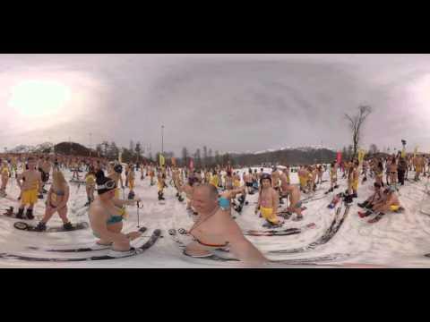 بتقنية 360:  التزلج بـ'البكيني' في روسيا يحطم الأرقام القياسية
