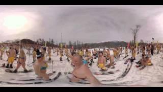 """بالتقنية 360:  التزلج بـ""""البكيني"""" في روسيا يحطم الأرقام القياسية    12-4-2016"""