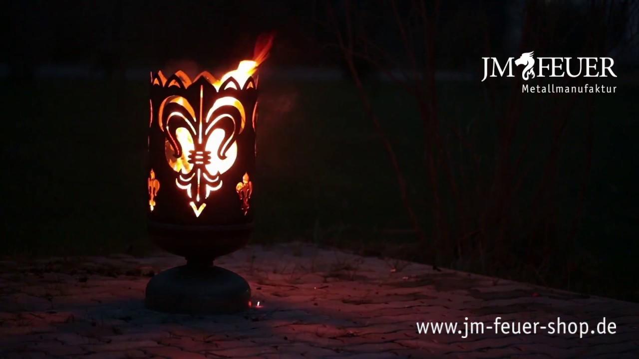 Jm Feuer Shop feuerkorb lilie aus metall