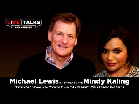 Michael Lewis with Mindy Kaling at Live Talks Los Angeles