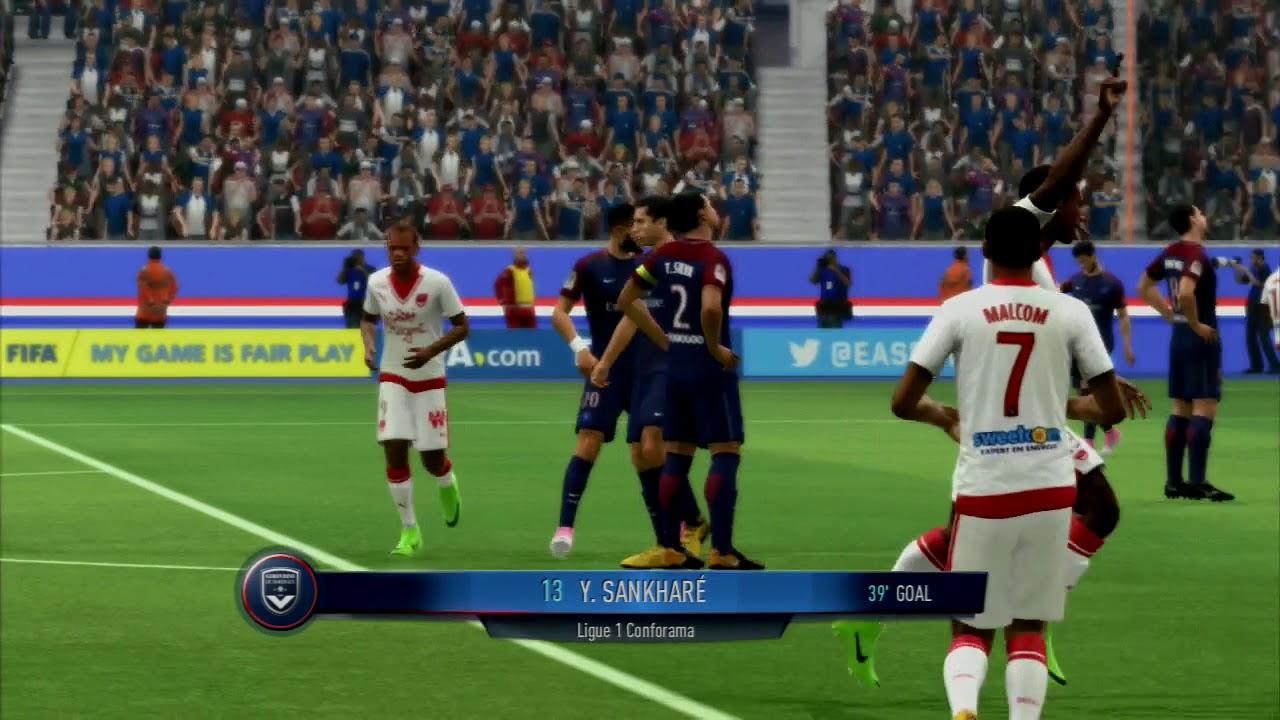 Fifa  Ps Gameplay Psg Vs Bordeaux Full Match Hd