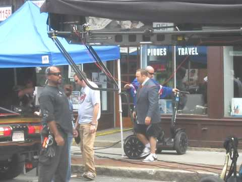 Kevin James on Segway while filming the movie Zookeeper in Cambridge, MA.