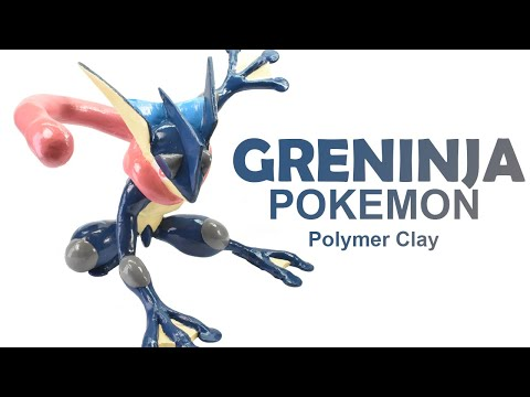 Greninja Pokemon - Polymer Clay Tutorial