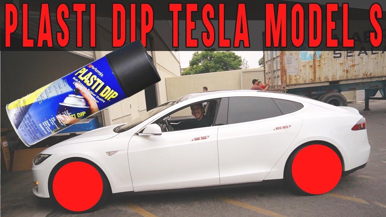 Smurfinwrx How To Plasti Dip Tesla Model S Wheels