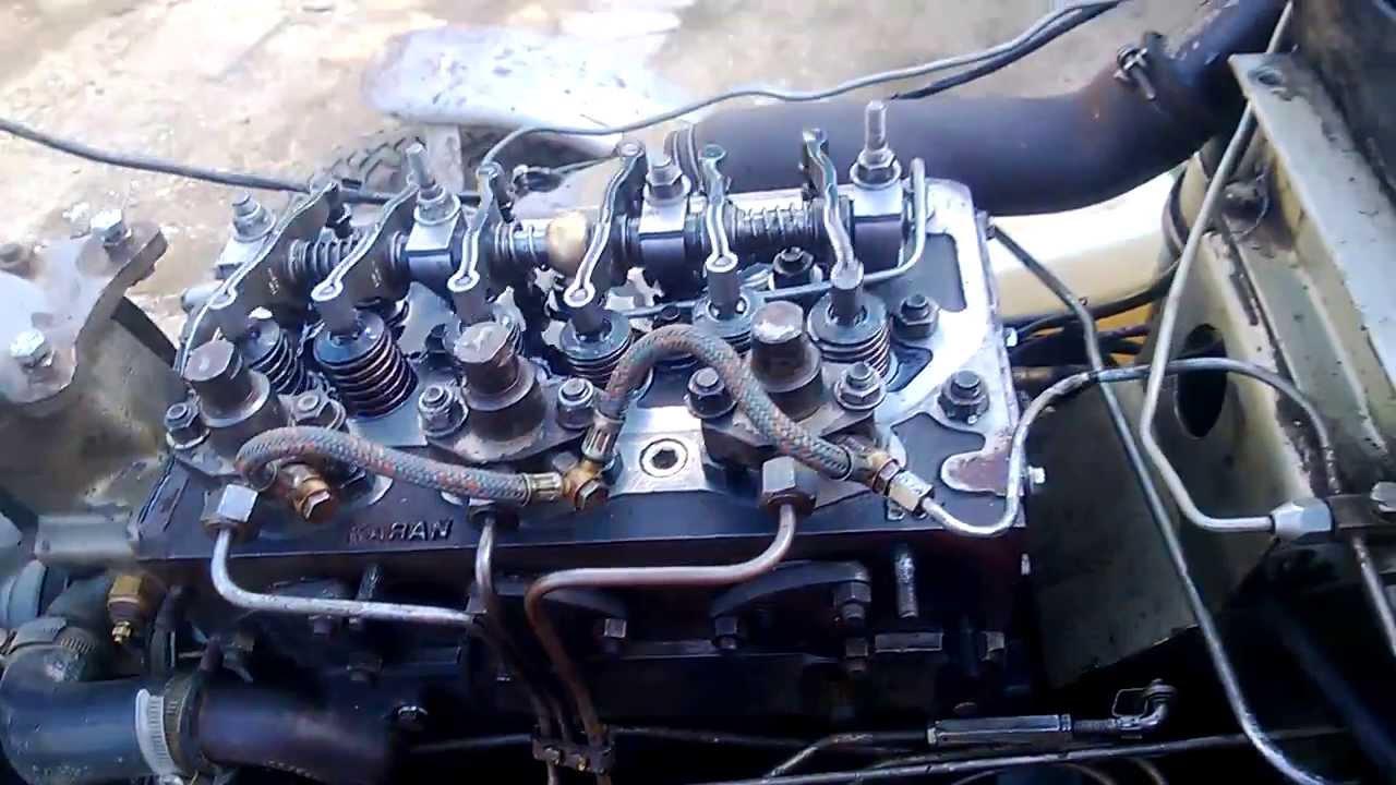 Perkins 3152 After Cylinder Head Rebuild 3  YouTube