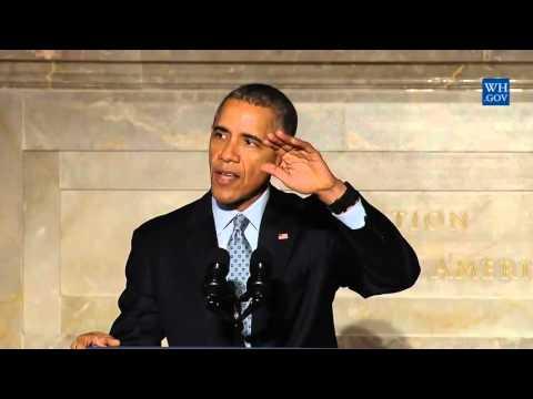 Obama welcomes Iraq Refugee Among New U.S. Citizens- Full Speech