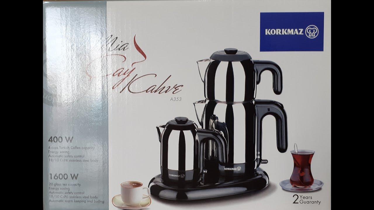 Korkmaz mia a353 çay ve kahve makinası - Mutfak Eşyaları - YouTube